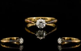 18ct Gold and Platinum Good Quality Sing