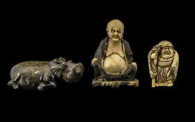 Oriental Recumbent hippopotamus Realisti
