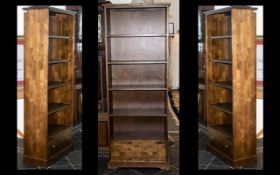 Gatsby Range Display Bookcase made from European birch with a dark stain and lacquered finish.