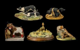 Collection of Border Fine Arts & Arista Ceramic Farm Figures. Comprising figures of farm animals