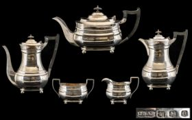 James Dixon - 1930's George III Style - Nice Quality 5 Piece Silver Tea and Coffee Service of