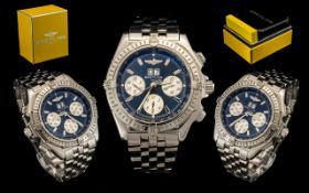 Breitling 1884 Superb Crosswind Special Edition Automatic Steel Chronograph / Chronometer Large Size