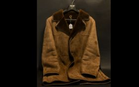 Gentleman's Sheepskin Coat by Conder of Ipswich, in brown colour, approx size 40/42'' chest. Good