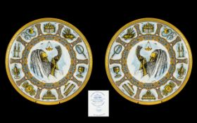 Goebel Traditions Plates. Pair of Goebel Traditions Plates, in good condition, please see