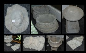 Collection of Stone Garden Ornaments to include - Planters, Urns and Stoneware.