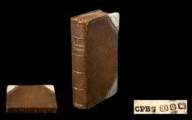 Victorian Silver Bound Common Prayer Book. Hall marked Birmingham 1899, prayer book in leather