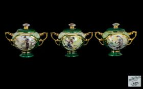Collection of Porcelain Musical Lidded Boxes by Ardleigh Elliot Heirloom three in total,