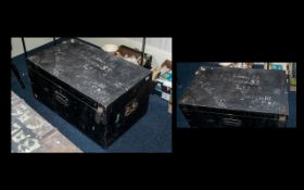 Black Painted Military Chest with brass