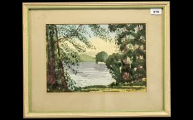 Watercolour by Roger Lloyd Lytham born a