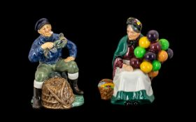 Royal Doulton Hand Painted Figures ( 2 )