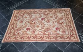 Laura Ashley Rug in wool with beige gro