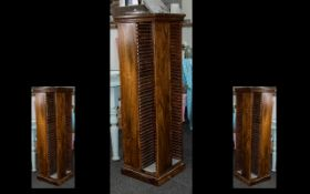 Wood CD Spinner Rack to contain CD colle