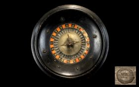 Roulette Wheel. Mid to early 20th Centur