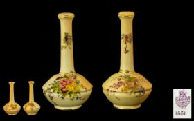 Royal Worcester Pair of Matched Blush Iv