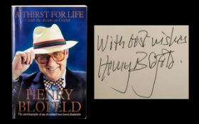 Signed Henry Blofeld Autobiography 'A Th