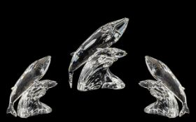 Swarovski Crystal Superb S.C.S. Annual Edition Crystal Figure for 1992 ' Care for Me ' Trilogy The