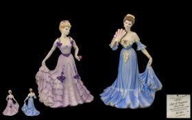 Coalport Handpainted Figures 1. Age of Elegance 'First Waltz' figure of the year 1996.