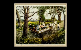 Tom Dodson Signed Limited Edition Coloured Print Titled ''Sunday School Outingl'' 40/850.