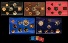 Collection Of Coin Sets. To include Proof set 1982 Coinage of Great Britain & Northern Ireland,