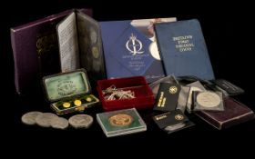 A Small Mixed Lot of Coins to include a 1970 Year Set Britain's First Decimal Coins. Festival of