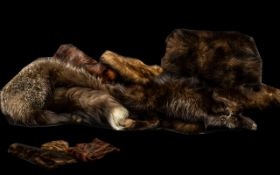 Collection of Vintage Fur Scarves, Collars & Muffs. Comprising a capelet with velvet inner collar
