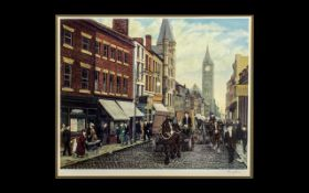 Tom Dodson Signed Coloured Print Titled ''Fishergate, Preston'' Signed in pencil to margin. Blind