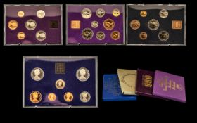 Collection Of Coin Sets. 4 in total to include 1982 Proof coinage Of Great Britain & Northern