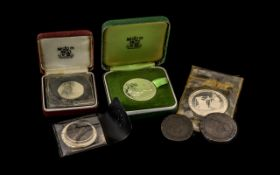 A Small Collection of Silver Coins, Medallions, and Copper Coins - comprising of 1. George III