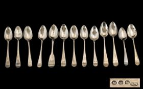 Georgian Period (some earlier) Collection of Assorted English and Scottish Sterling Silver