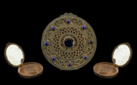 19th Century Jewelled Compact. 19th century French jewelled compact, please see accompanying image.