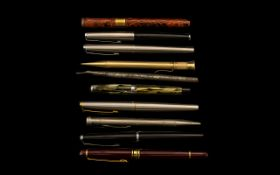 A Collection of Assorted Vintage Fountain Pens. 9 Pens in total, comprising: 1. Parker 61 Fountain
