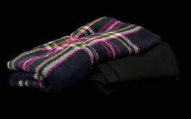 Vintage Winter Scarves including Joules Oversized Wool Scarf in plaids and checks, and Mango brand