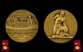 Italian Cased Gilded Medallion case stamped 1836 Johnson 'Azienda Autonoma Provincale Per. L.