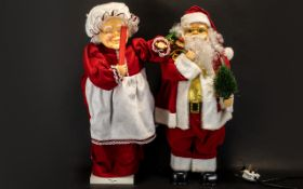 Christmas Power Operated Automation Festive Figures (2) Two in total comprising a Santa figure (24