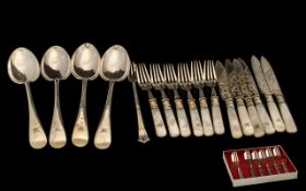 Collection of Silver Plated Ware to include a boxed set of six Pastry Forks; four large serving