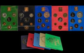 Coin Sets In Presentation Packs. 5 sets in total to include Crown piece specially struck at the