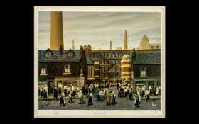 Tom Dodson Signed Limited Edition Coloured Print Studio Art 1992. Titled ''Dinner Time at t'
