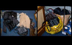 A Selection of Handbags and Ladies Clothes including coats, hats, winter ware etc