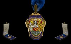 Manchester Silver Gilt & Enamel Badge 'Past President, Manchester District Machinery and Metal