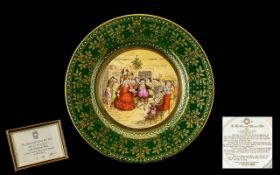 Caverswall China 1978 Christmas Plate Limited Edition of 1000, Number 804. First year of the series,