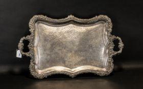 Large 18th Century Sheffield Plate Servi