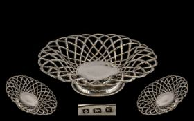 Edwardian Period Basket Weave Design Ste