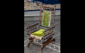 19thC American Child's Rocking Chair, Ma