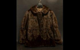 Ladies Dark Brown Mink Jacket fully line