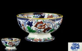 Antique Ironstone Bowl - Amherst Japan.
