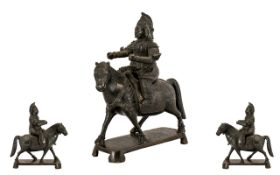 An Antique Japanese Bronze Horse and Rid