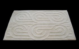 Cream Wool Jeff Banks Designer Rug measu