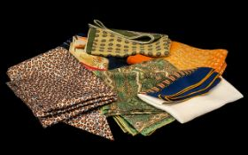 Collection of Vintage Scarves comprising