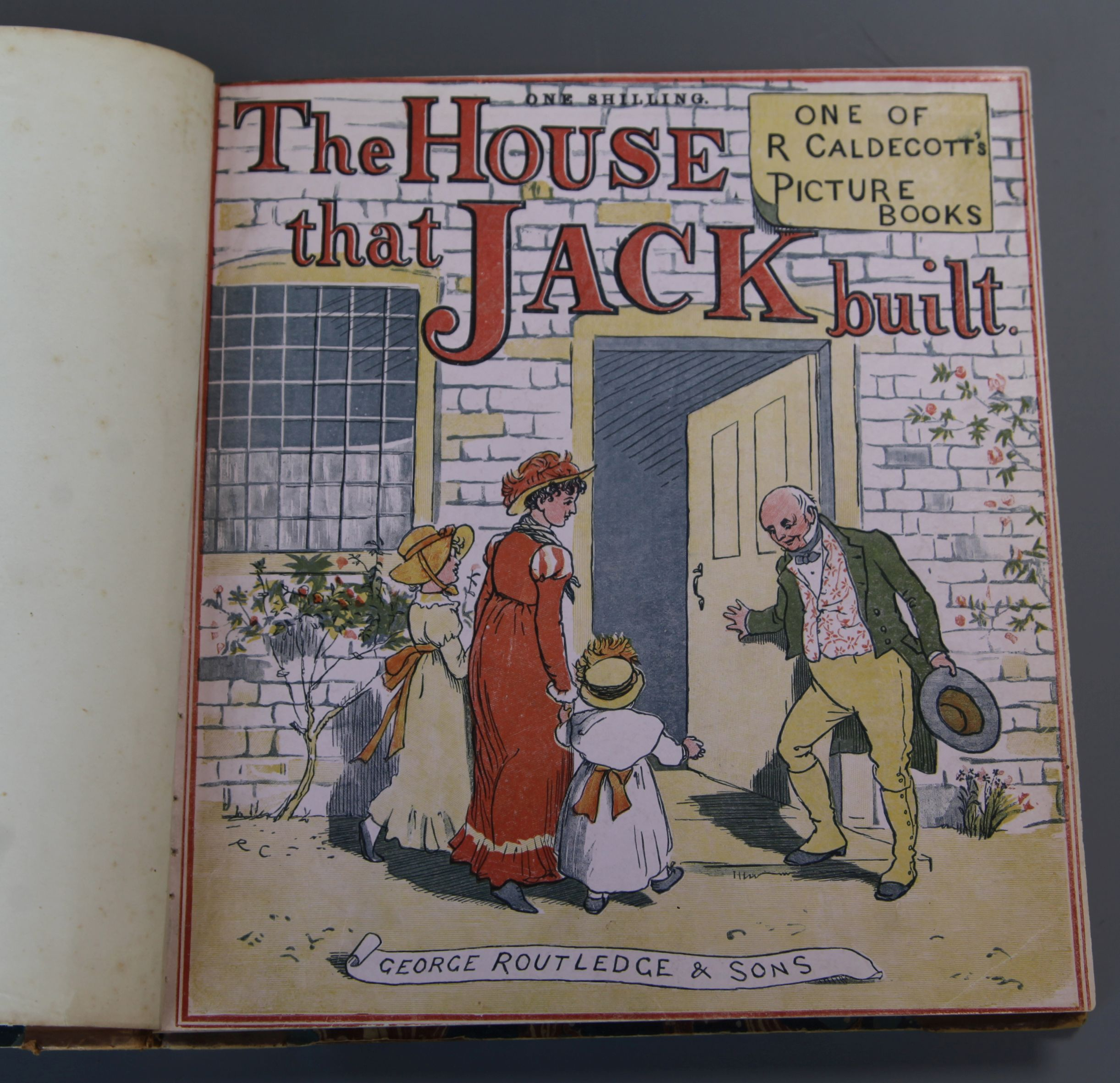 Lot 22 - Caldecott, Randolph - Sixteen picture books, bound in 3 vols, including:- The House that Jack