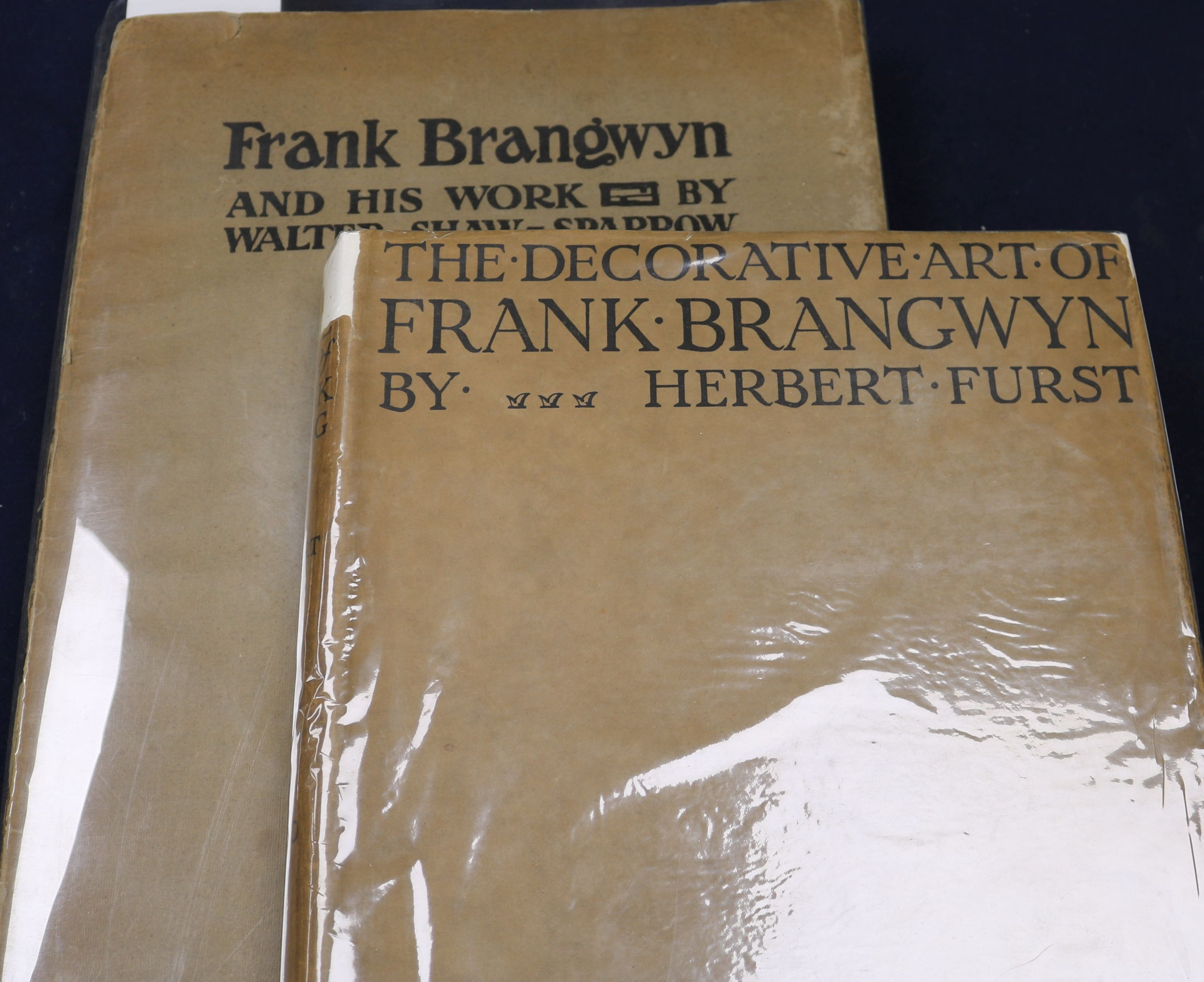 Lot 7 - Furst, Herbert, Ernest, Augustus - The Decorative Art of Frank Brangwyn, 4to, cloth, with d.j., with